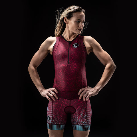 Women's TechnoPop Contender 2.0 Tri Top - Maroon