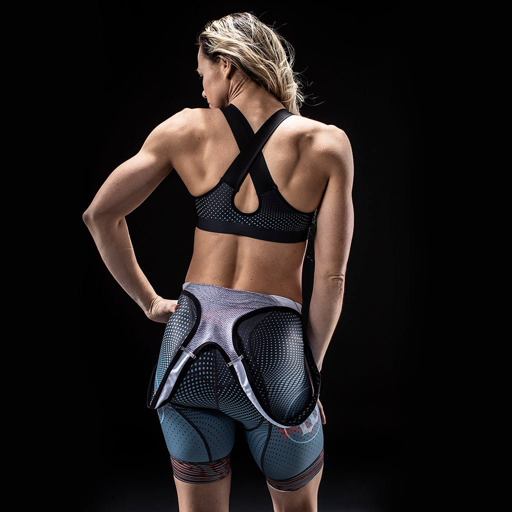 Women's TechnoPop Contender Cycling Bib Short - Titan