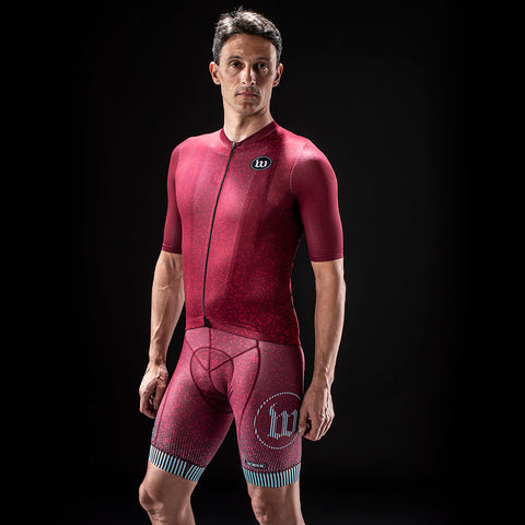 Men's TechnoPop Contender 2.0 SS Cycling Jersey - Maroon