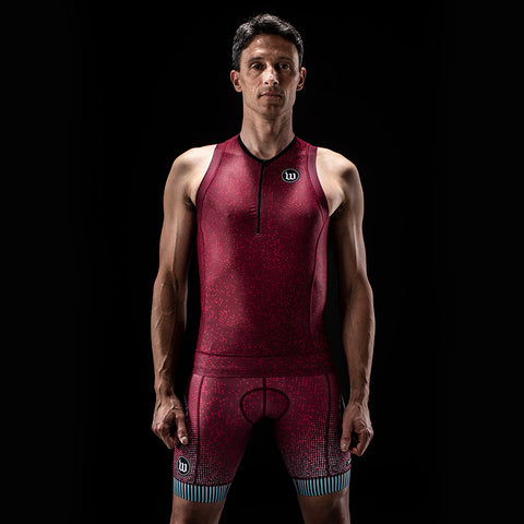 Men's TechnoPop Contender 2.0 Tri Top - Maroon