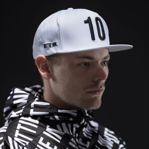 White 10th Anniversary Perforated Snapback-hover