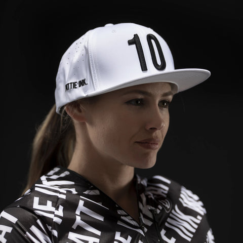 White 10th Anniversary Perforated Snapback