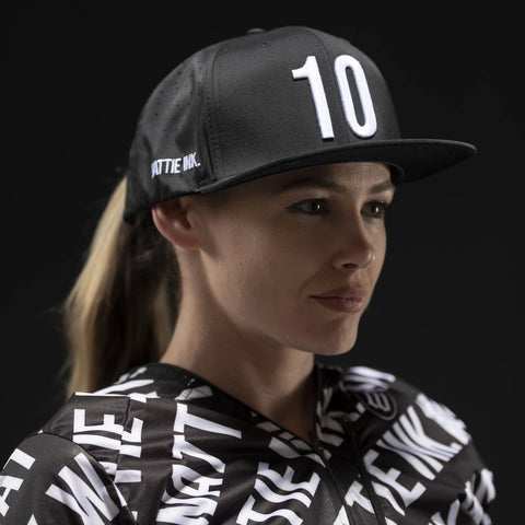 Black 10th Anniversary Perforated Snapback