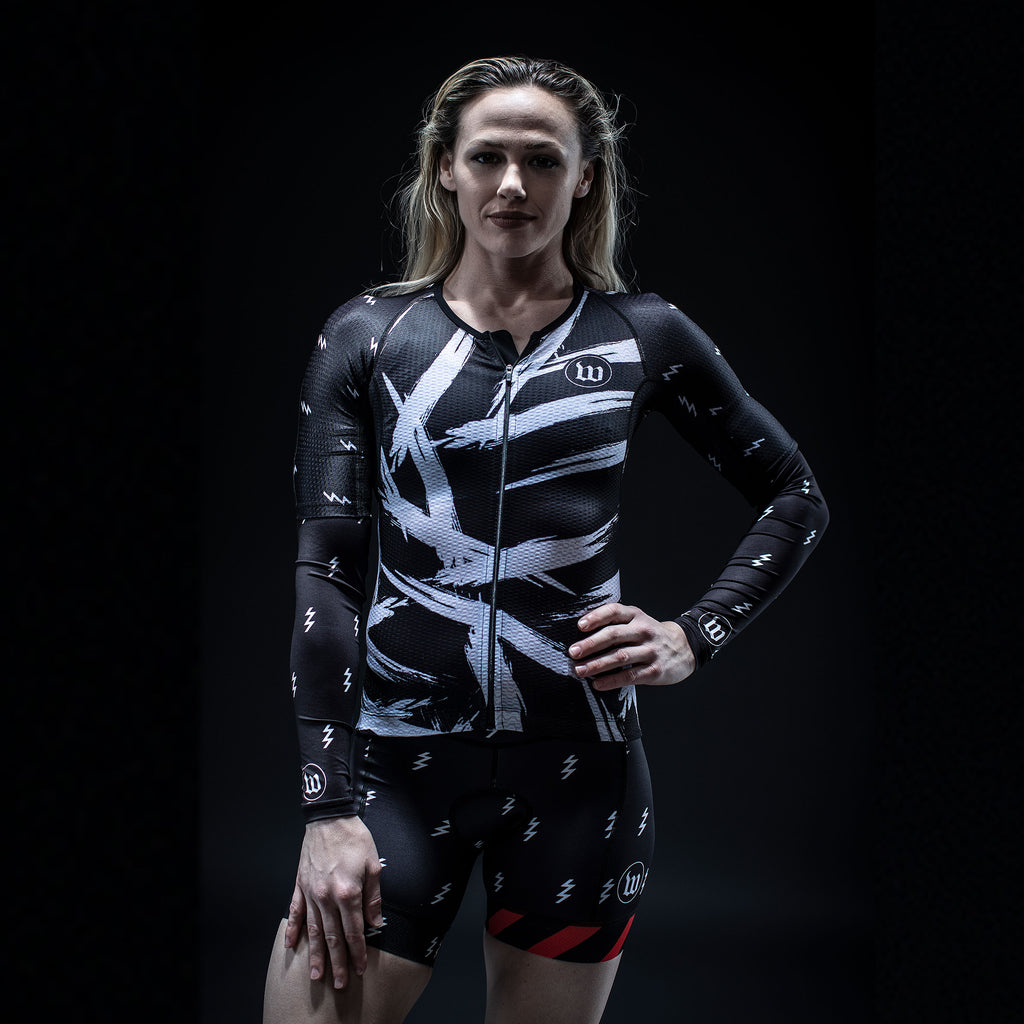 Women's Champion 2.0 Black + White Aero Jersey