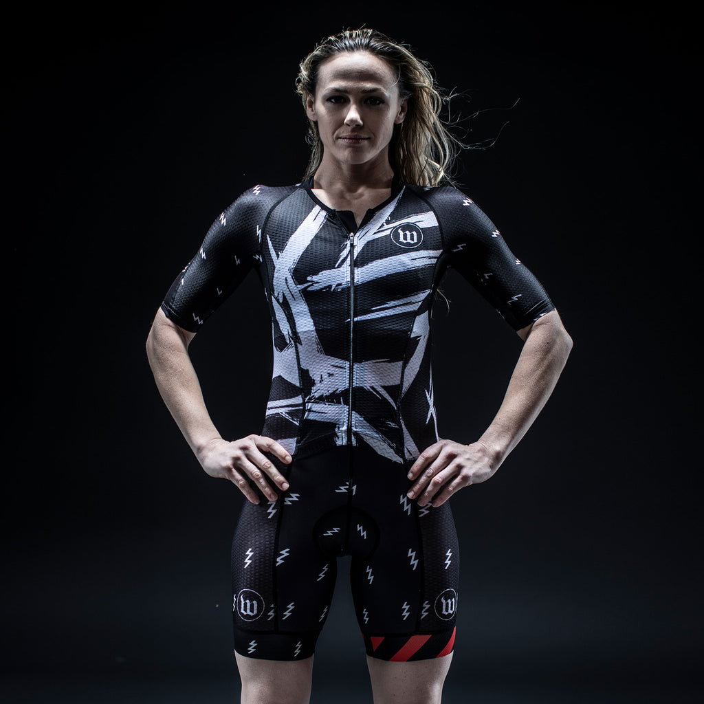Women's Champion Black + White Tri Speedsuit
