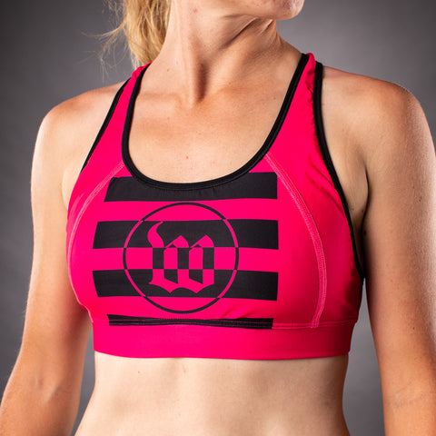 Women's Flash Contender Race Bra - Pink