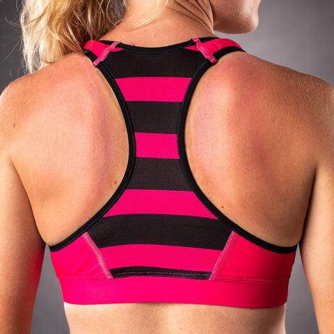 Women's Flash Contender Race Bra - Pink-hover
