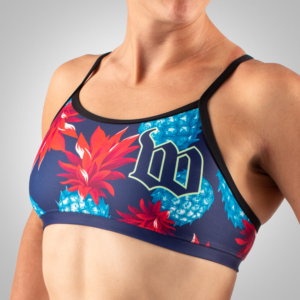 Women's Cabana Triple Threat Sport Top - Pineapple