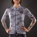 Women's Parlor Contender 2.0 SS Jersey - Silver