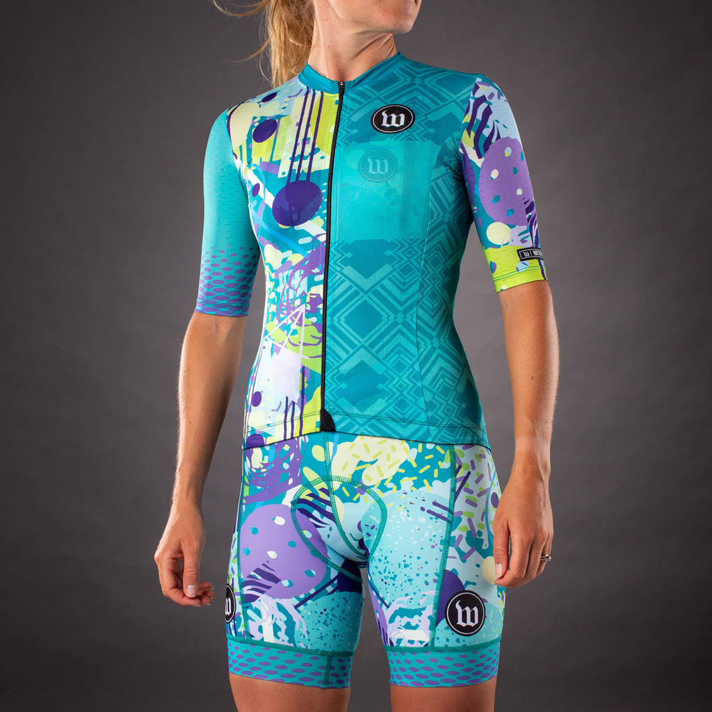 Pop Art Contender 2.0 Womens SS Cycling Jersey - Riviera