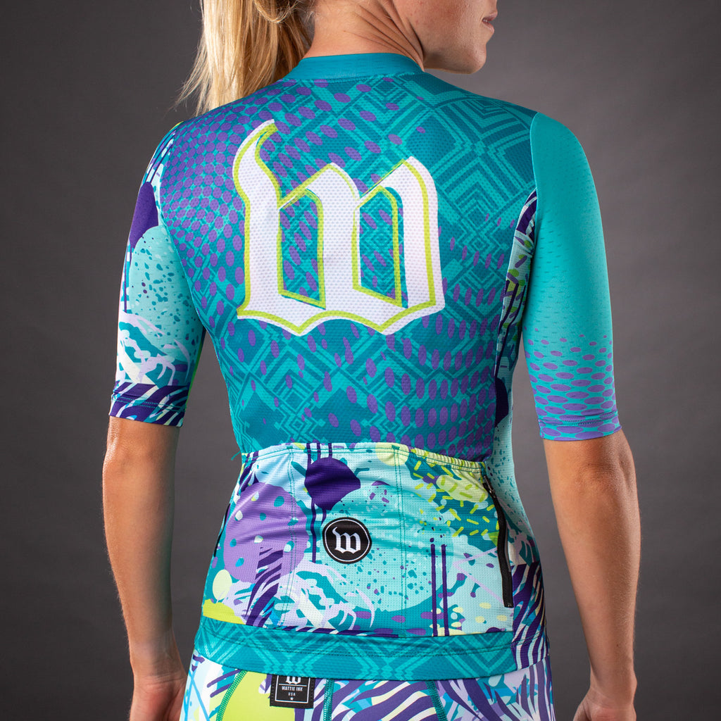 Women's Pop Art Contender 2.0 SS Cycling Jersey - Riviera