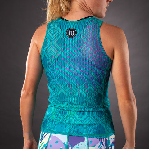 Women's Pop Art Contender Base Layer - Riviera-hover