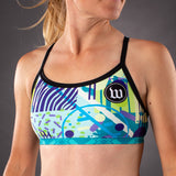 Pop Art Contender Womens Triple Threat Sport Top - Riviera