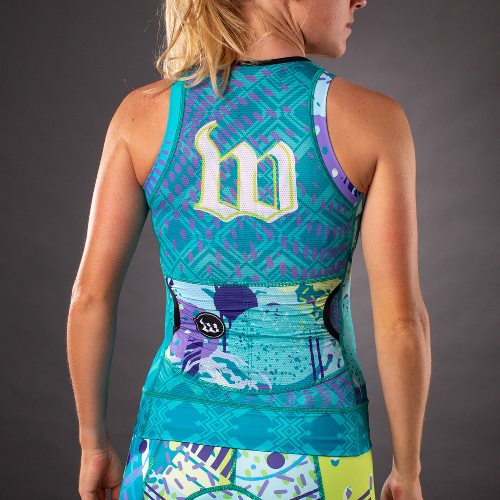 Pop Art Contender 2.0 Womens Tri Top - Riviera