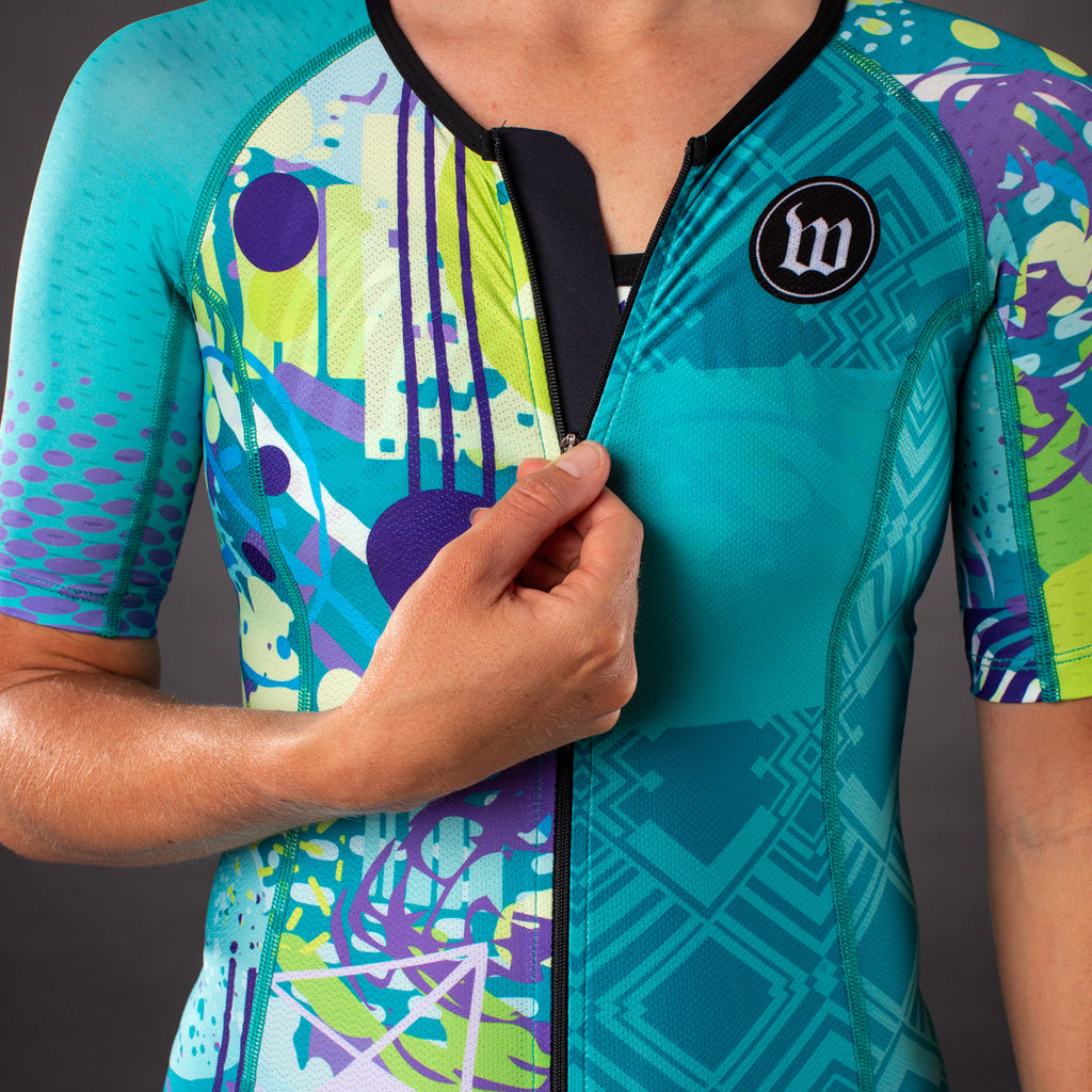 Pop Art Contender Womens Aero Triathlon Jersey - Riviera