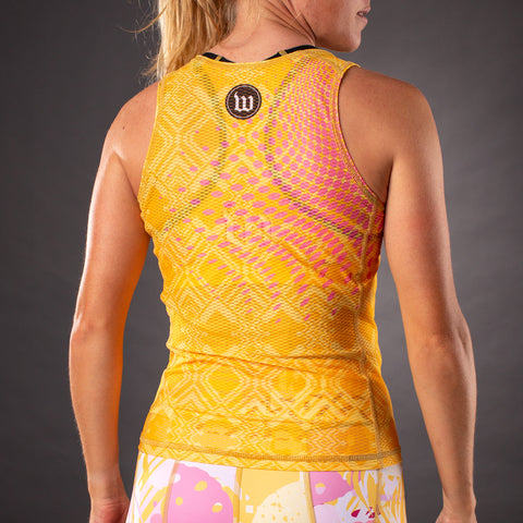 Pop Art Contender Womens Base Layer - Gold