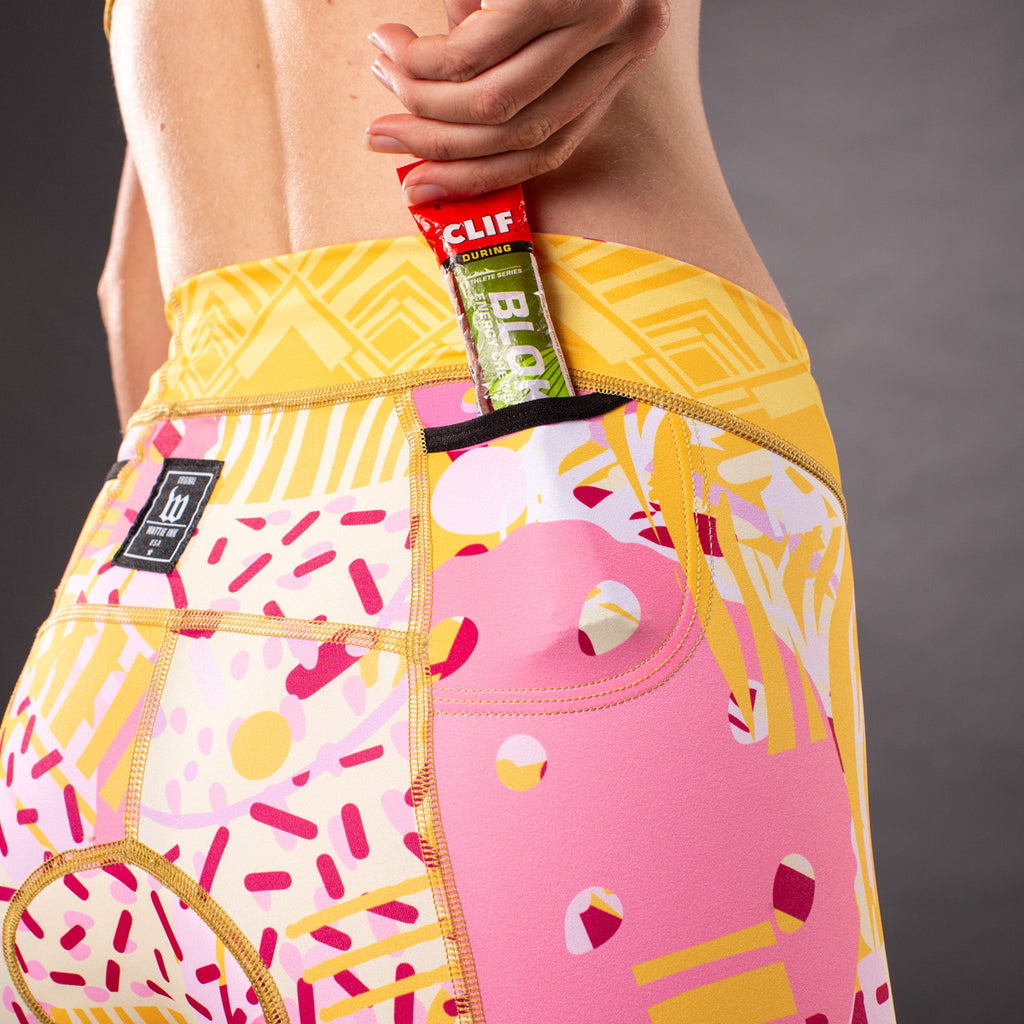 Pop Art Contender 2.0 Womens Tri Bottom - Gold