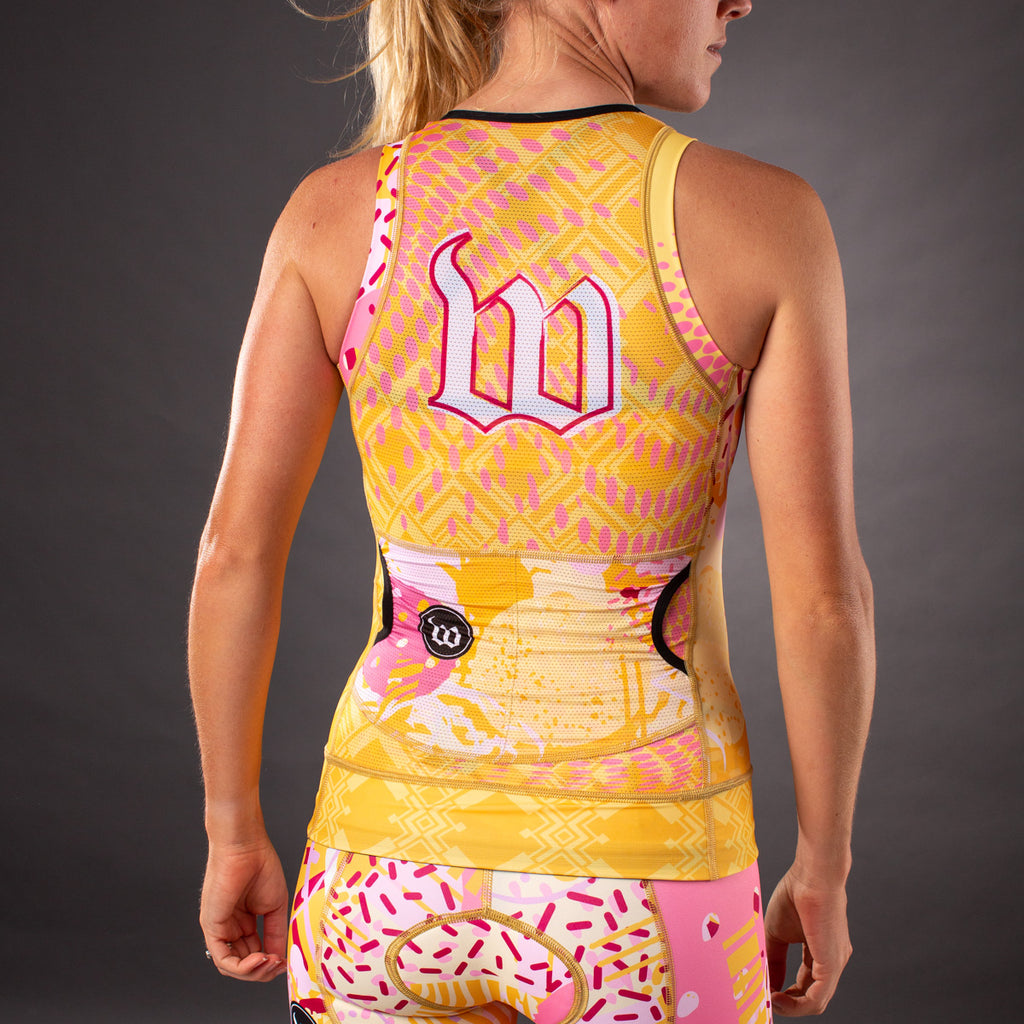 Pop Art Contender 2.0 Womens Tri Top - Gold