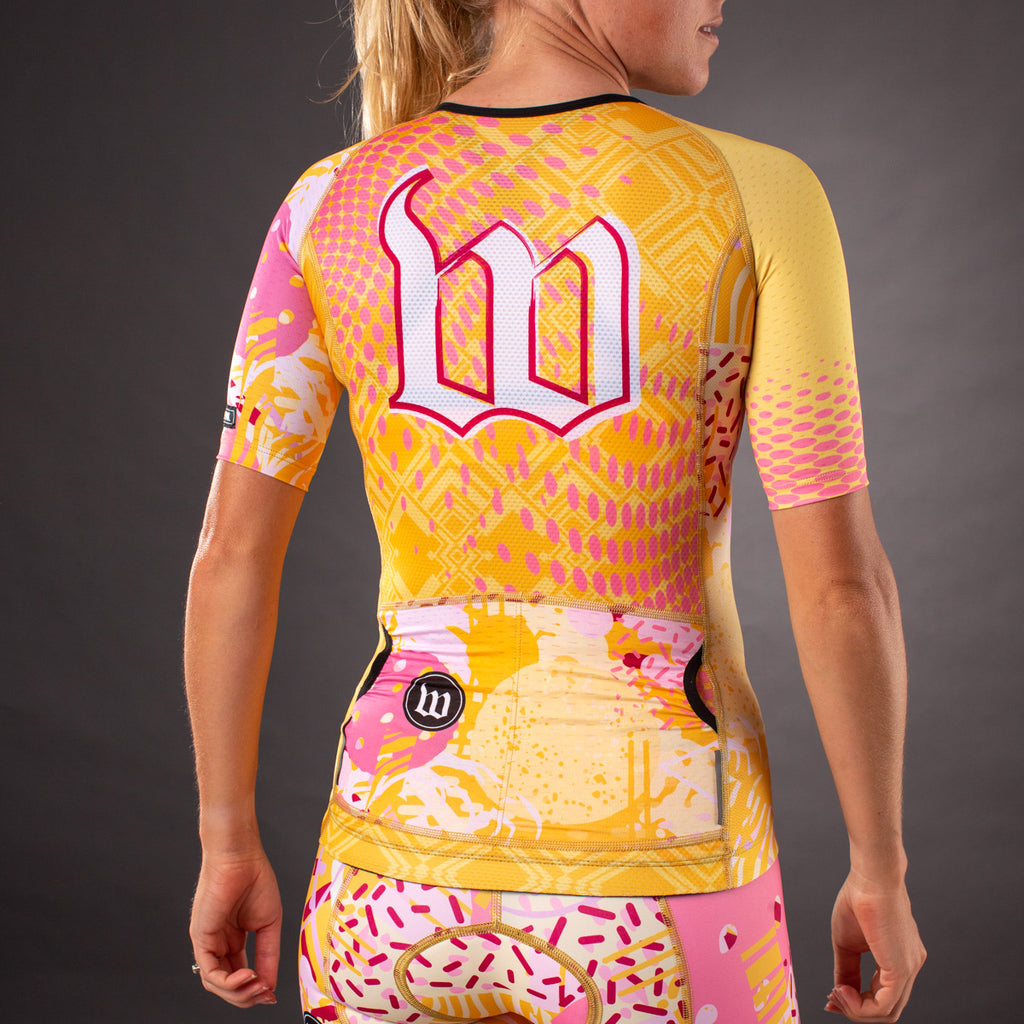 Women' Pop Art Gold Contender Tri Aero Jersey