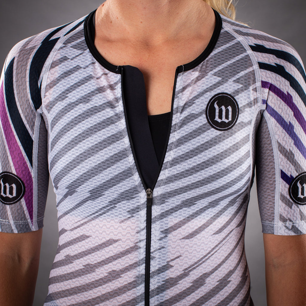 Women's Axiom 2.0 White Champion Tri Aero Jersey