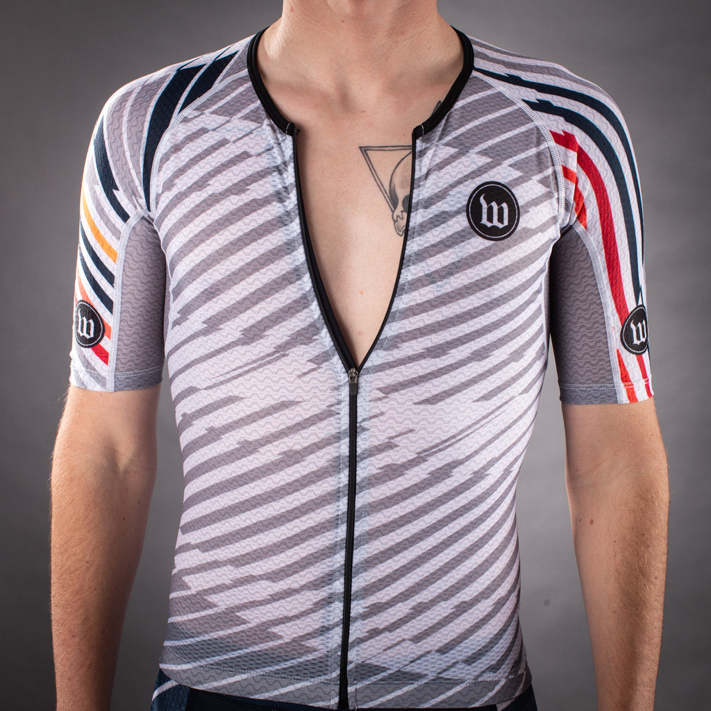 Men's Axiom 2.0 White Champion Tri Aero Jersey