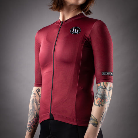 Women's Classics Collection Contender 2.0 SS Cycling Jersey - Cranberry