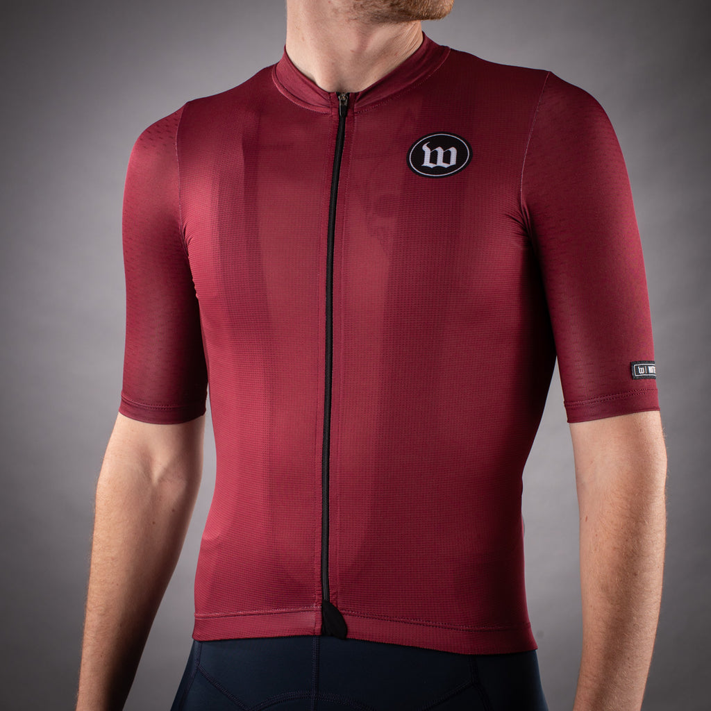 Men's Classics Collection Contender 2.0 SS Cycling Jersey - Cranberry