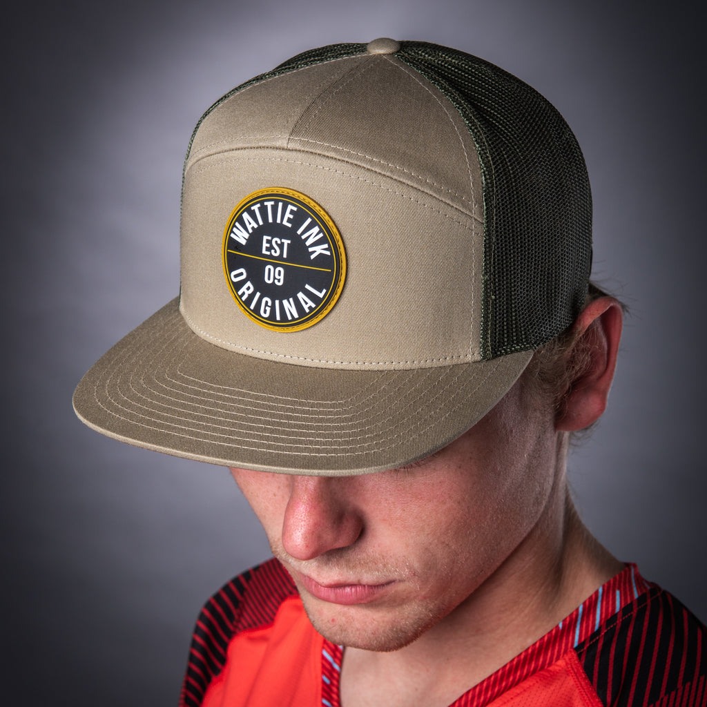 7 Panel Trucker Hat - Khaki