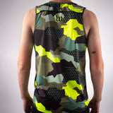 Urban Assault Run - Men's Running Singlet - Army