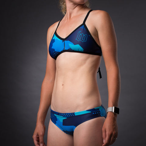 Women's Urban Assault Hyper Blue Triangle Bikini Top