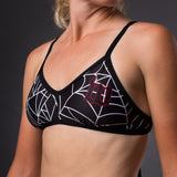Women's Black Widow Triangle Bikini Top