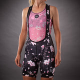 Women's Hana Collection Contender Aero Bib Short - Floral