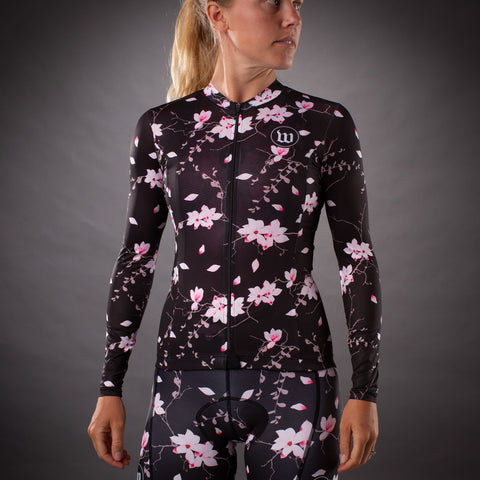 Women's Hana SuperFly Long Sleeve Summer Jersey - Floral