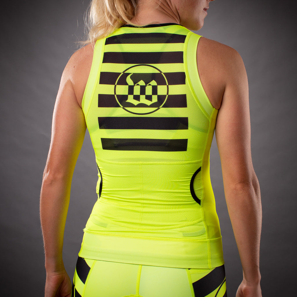 Women's Flash Contender Aero Triathlon Top - Yellow