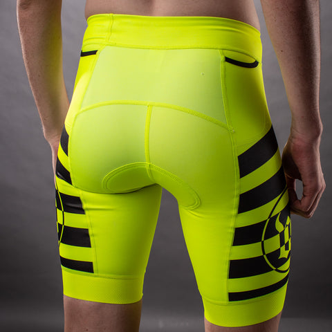 Men's Flash Contender 2.0 Tri Short - Yellow-hover