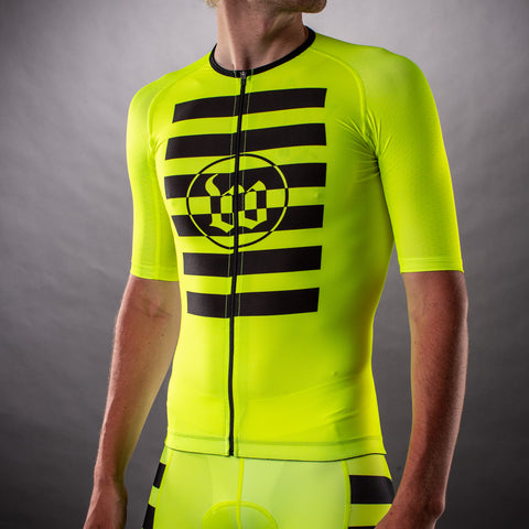 Men's Flash Contender Aero Triathlon Jersey - Yellow