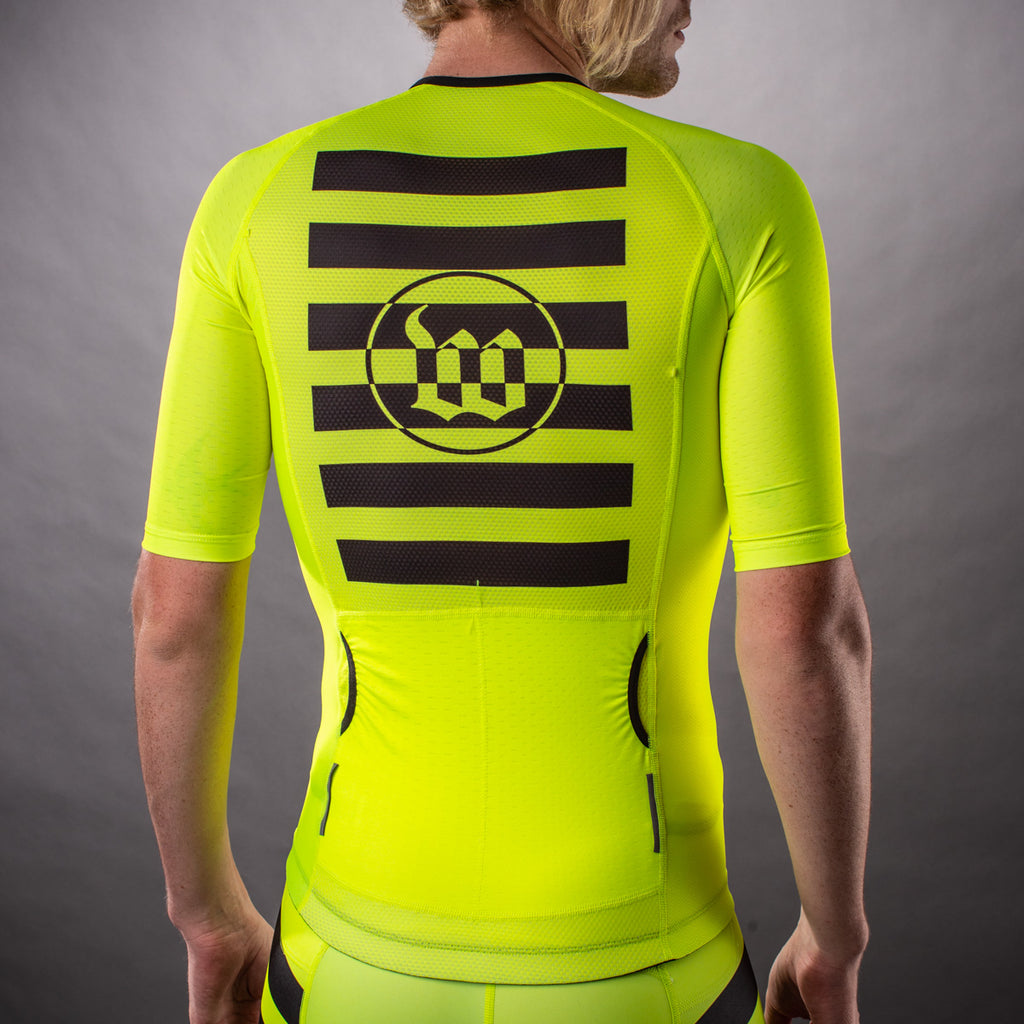 Men's Flash Yellow Contender Tri Aero Jersey