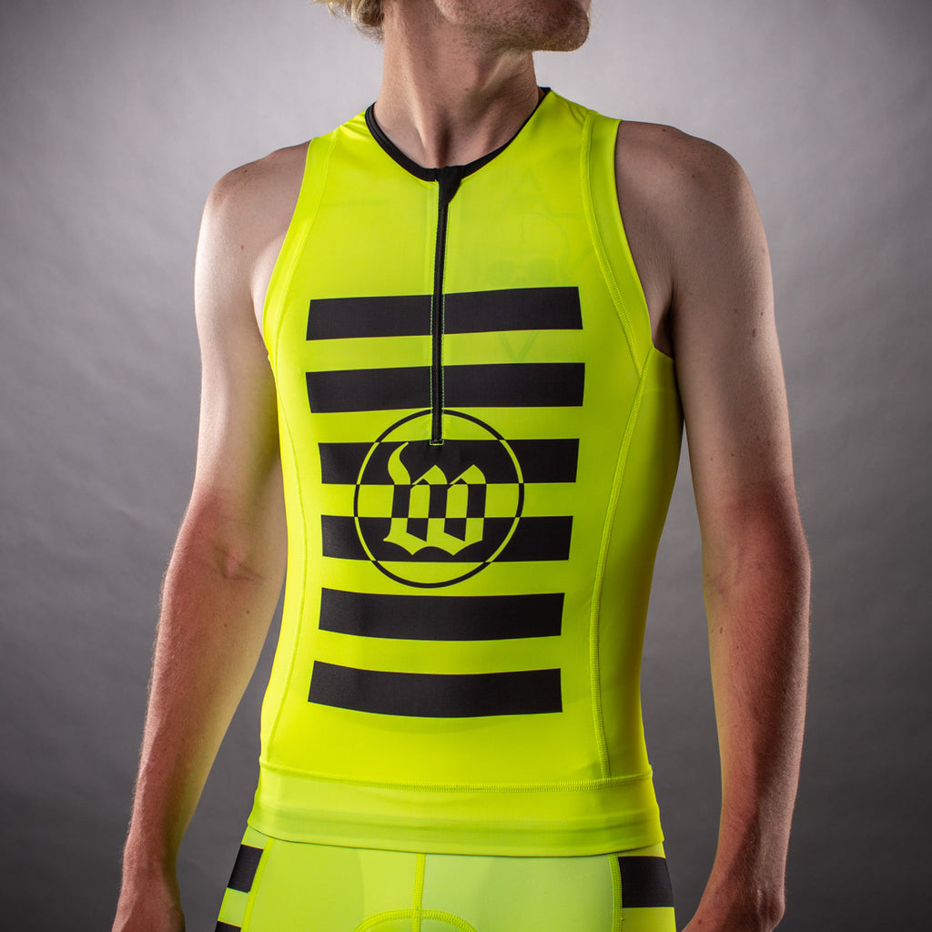 Men's Flash Yellow Contender Tri Top