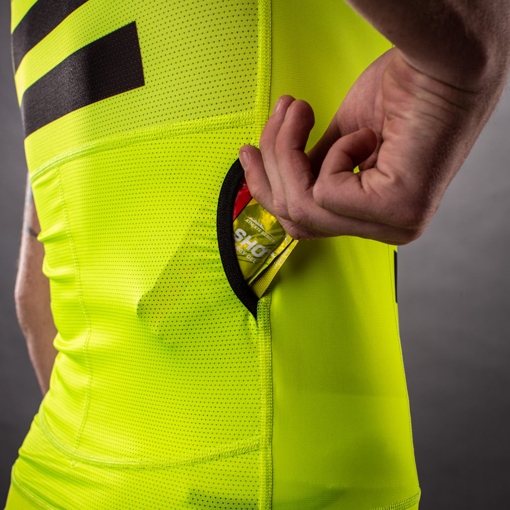 Men's Flash Contender Aero Triathlon Top - Yellow