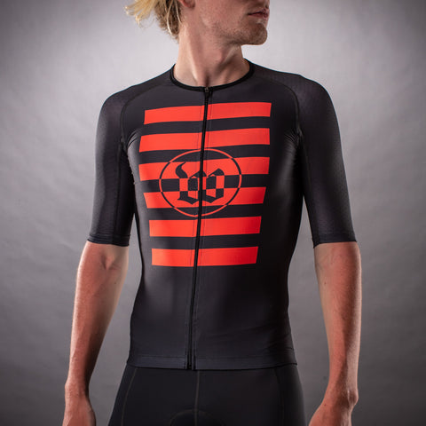 Men's Flash Grey Contender Tri Aero Jersey