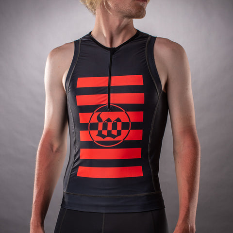 Men's Flash Contender Aero Triathlon Top - Grey