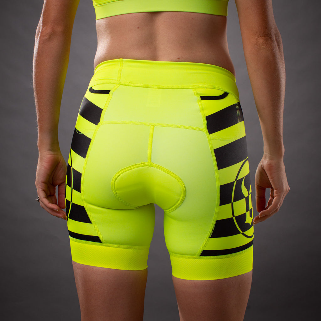 Women's Flash Contender Aero Triathlon Short - Yellow