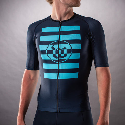 Men's Flash Contender Aero Triathlon Jersey - Blue