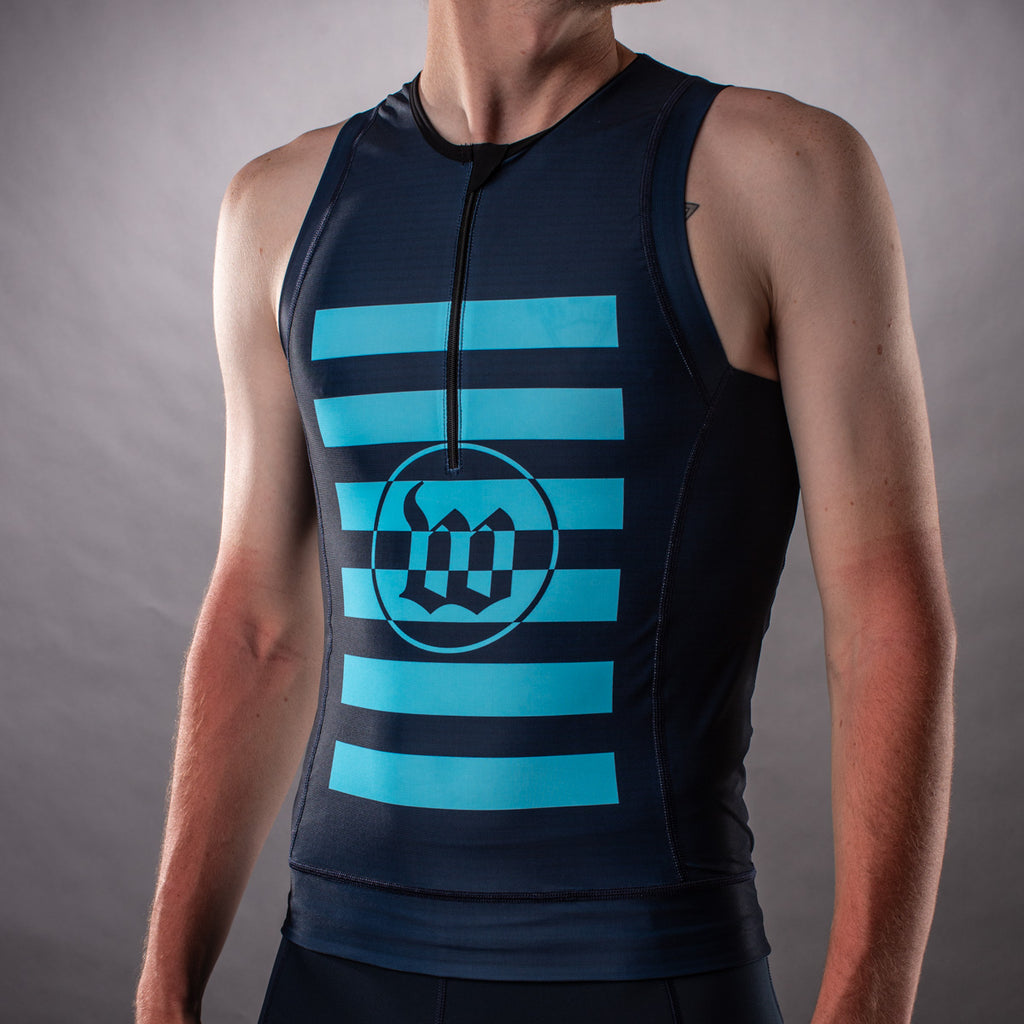 Men's Flash Contender Aero Triathlon Top - Blue