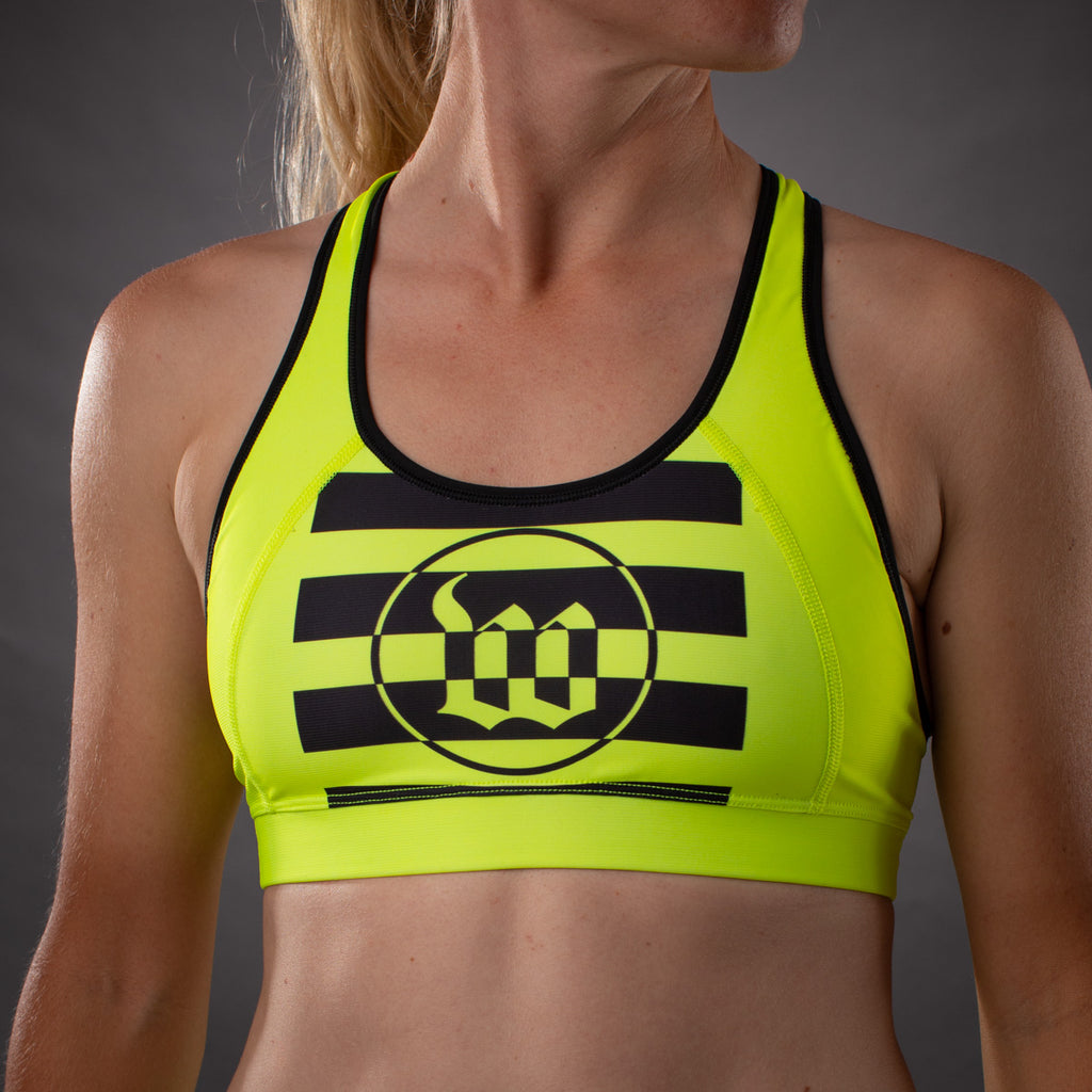 Women's Flash Contender Race Bra - Yellow