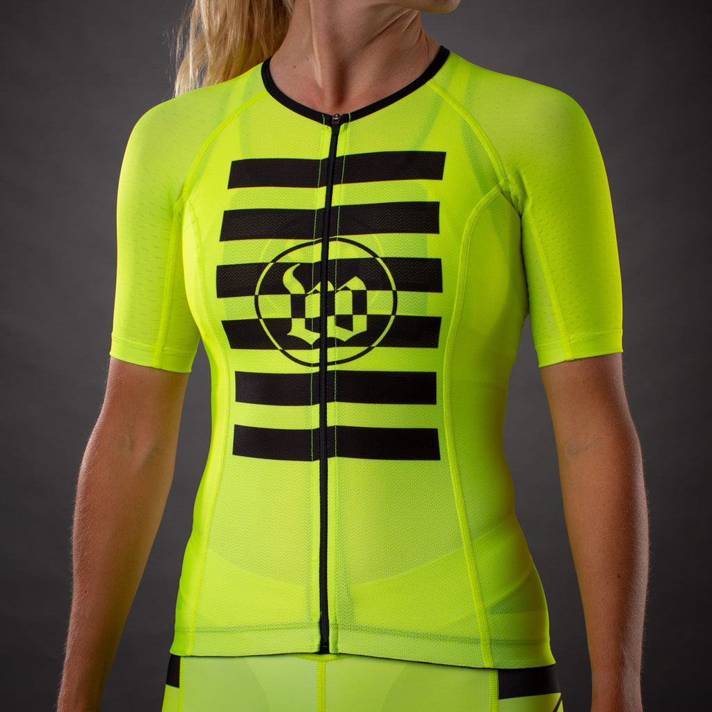 Women's Flash Contender Aero Triathlon Jersey - Yellow