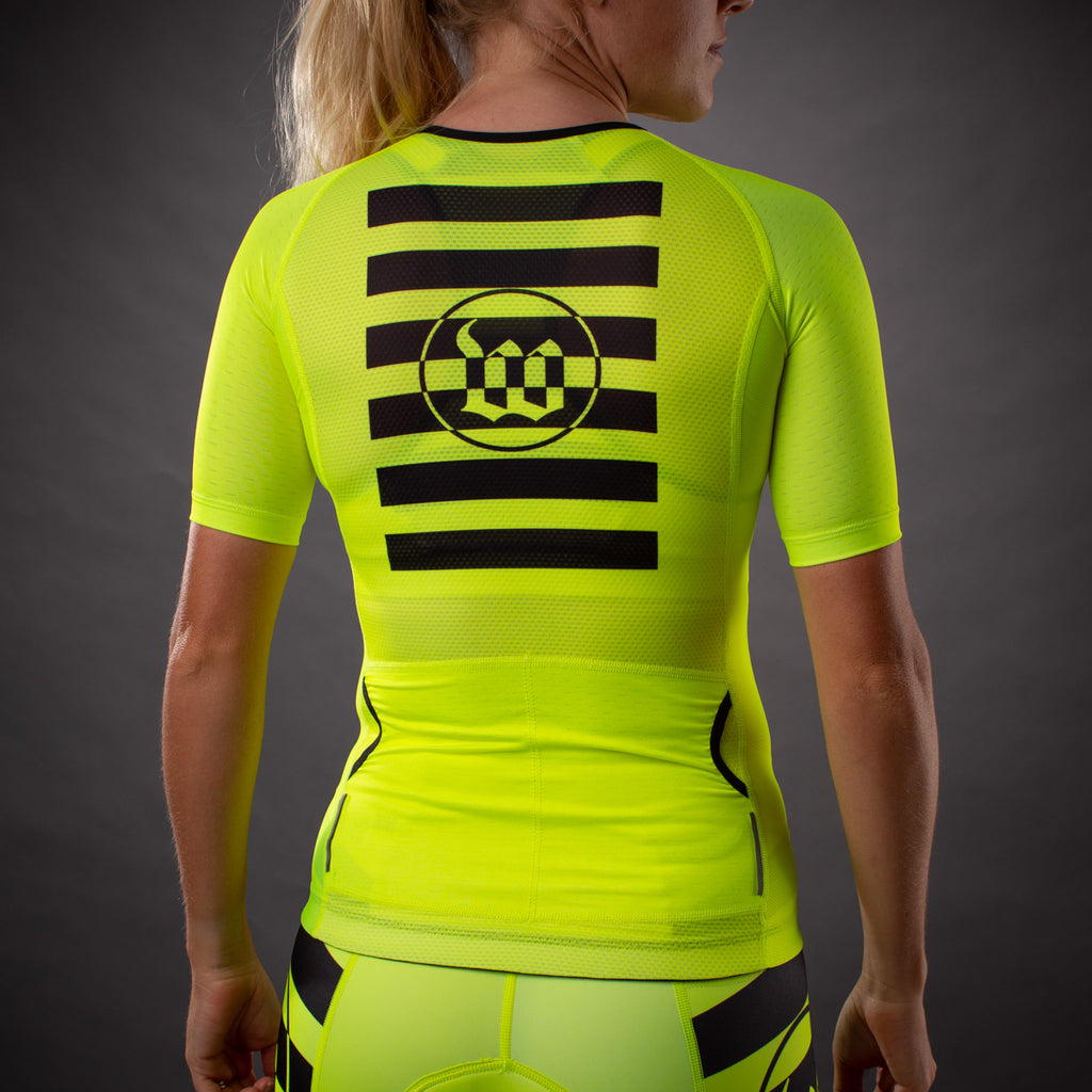 Women's Flash Yellow Contender Tri Aero Jersey