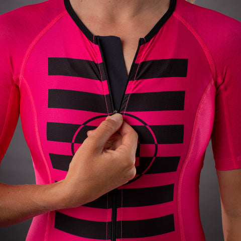 Women's Flash Contender Aero Triathlon Jersey - Pink