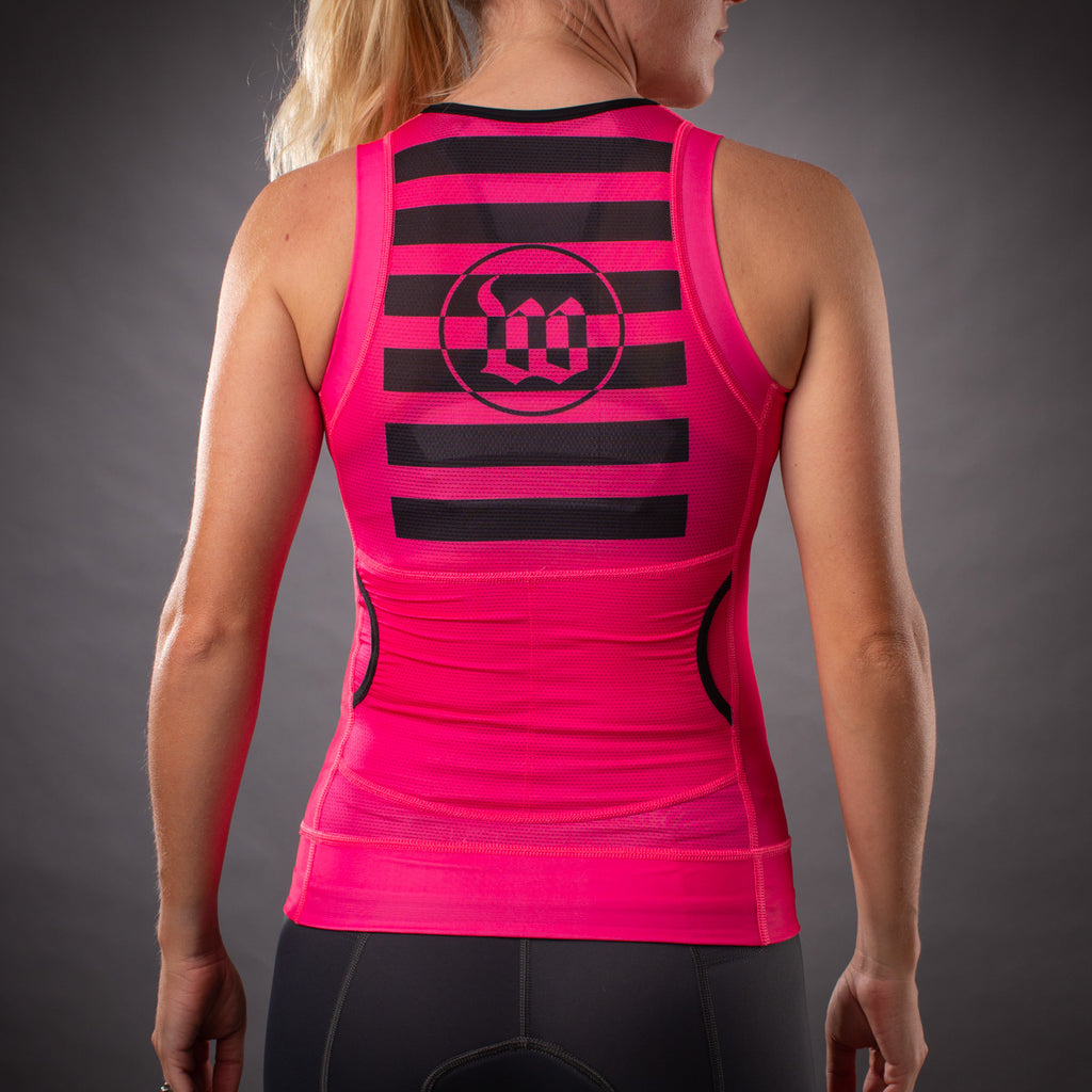 Women's Flash Contender Aero  Triathlon Top - Pink