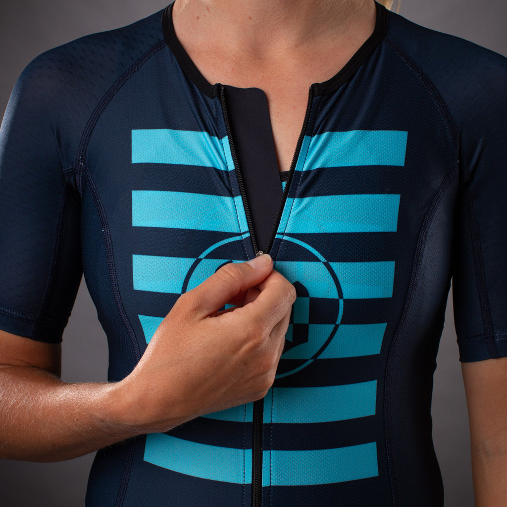 Women's Flash Contender Aero Triathlon Jersey - Blue